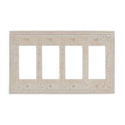 4 Rocker Wall Plate -  Stone Textured Almond