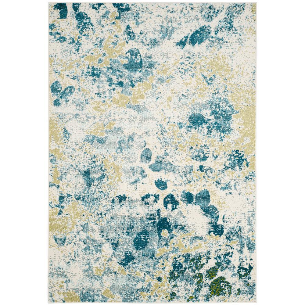 Safavieh Watercolor Ivory Light Blue 4 Ft X 6 Ft Area
