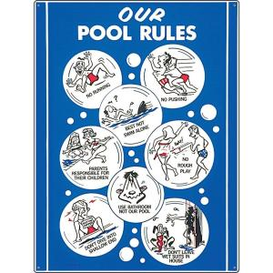 Poolmaster our pool rules sign 41336 the home depot - Residential swimming pool regulations ...
