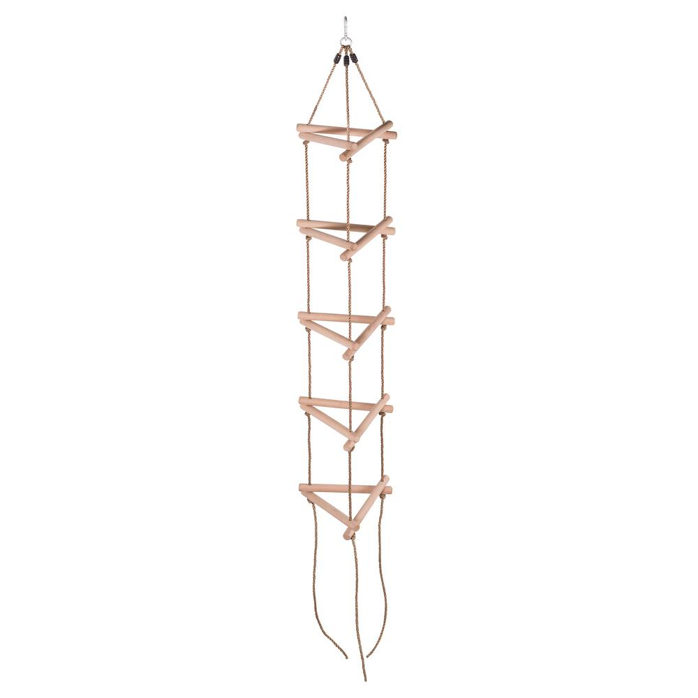 5 Steps Triangle Climbing Rope Ladder Fully Assembled Sw