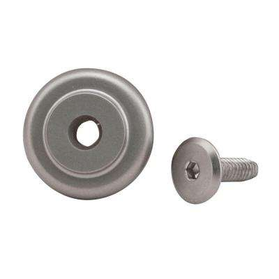 1-1/4 in. Dia Standard Satin Nickel Rail End Stop