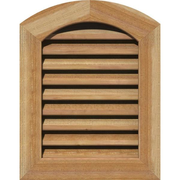 Ekena Millwork 21 X 41 Round Top Unfinished Rough Sawn Western Red Cedar Wood Paintable Gable Louver Vent Functional Gvwar16x3600rfuwr The Home Depot