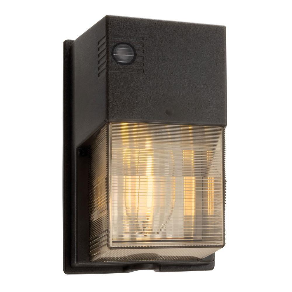 Lithonia Lighting 50-Watt Outdoor Bronze High Pressure Sodium Wall Pack
