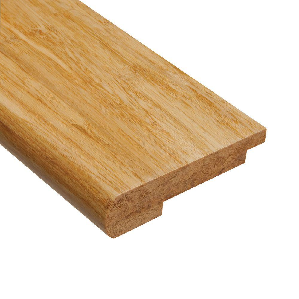 Home Legend Strand Woven Natural 9/16 in. Thick x 3-1/2 in. Wide x 78 in. Length Bamboo Stair Nose Molding