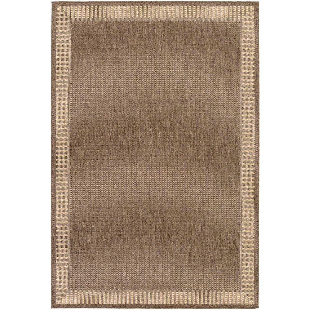 Couristan Recife Wicker Stitch Cocoa-Natural 4 Ft. X 5 Ft