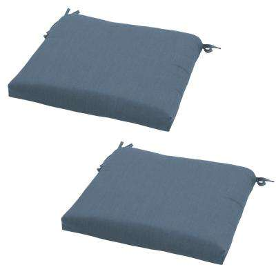 Canvas Sapphire Outdoor Seat Cushion (2-Pack)