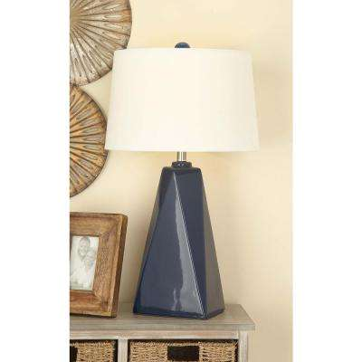 29 in. Traditional Ceramic Blue Table Lamp