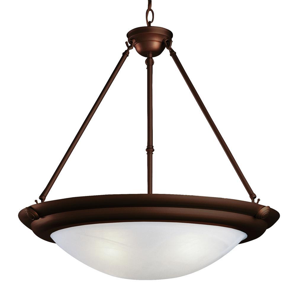 Craftsmen 3-Light Bronze Pendant