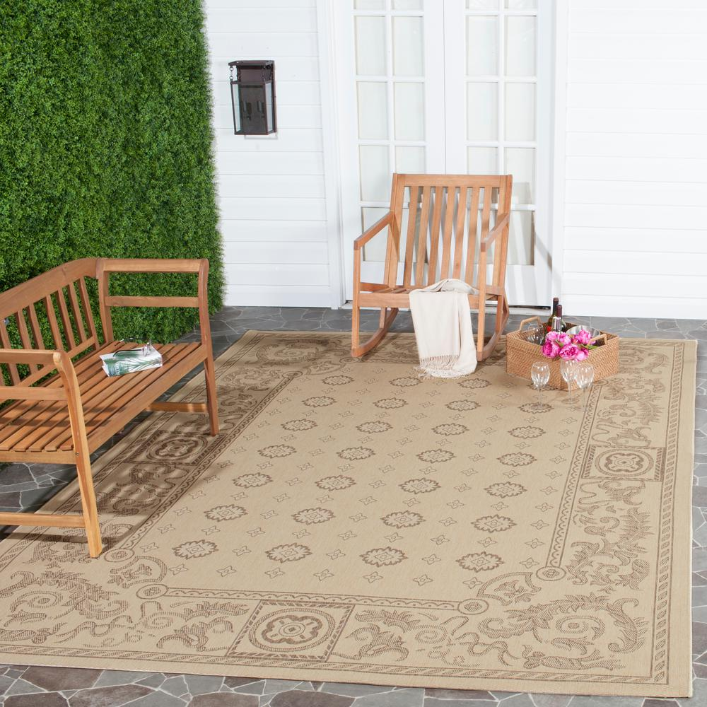 Courtyard Natural/Brown 5 ft. 3 in. x 7 ft. 7 in.