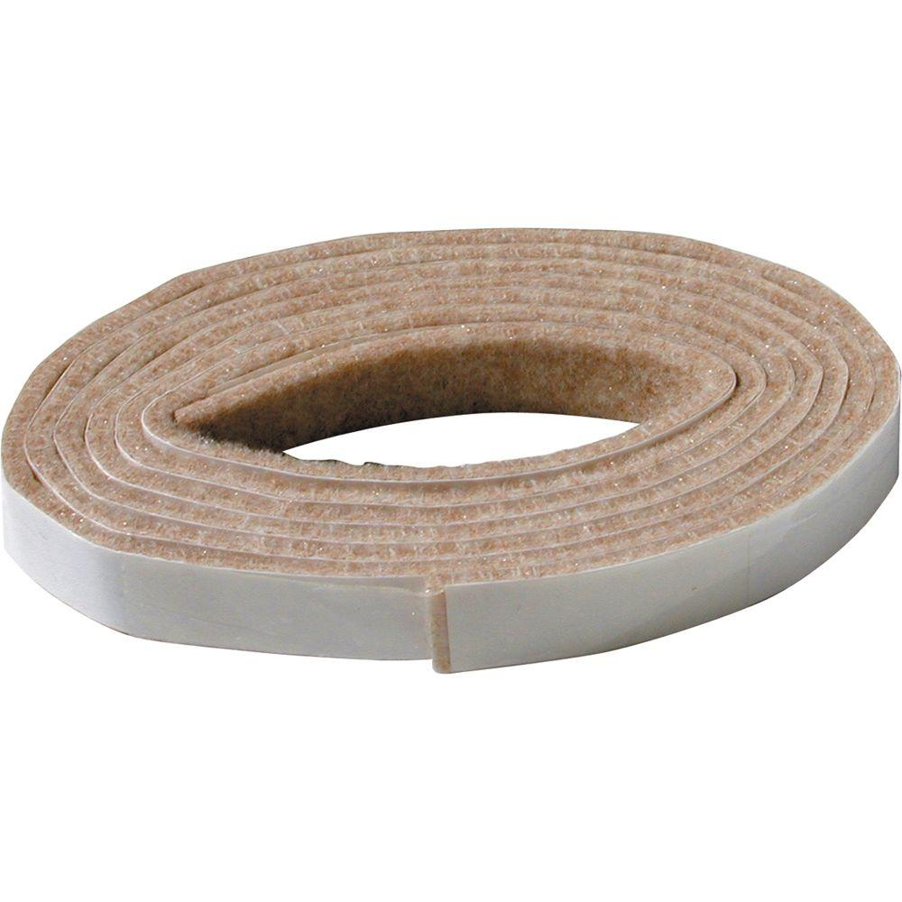 1/2 in. x 58 in. Heavy-Duty Self-Adhesive Felt Strip