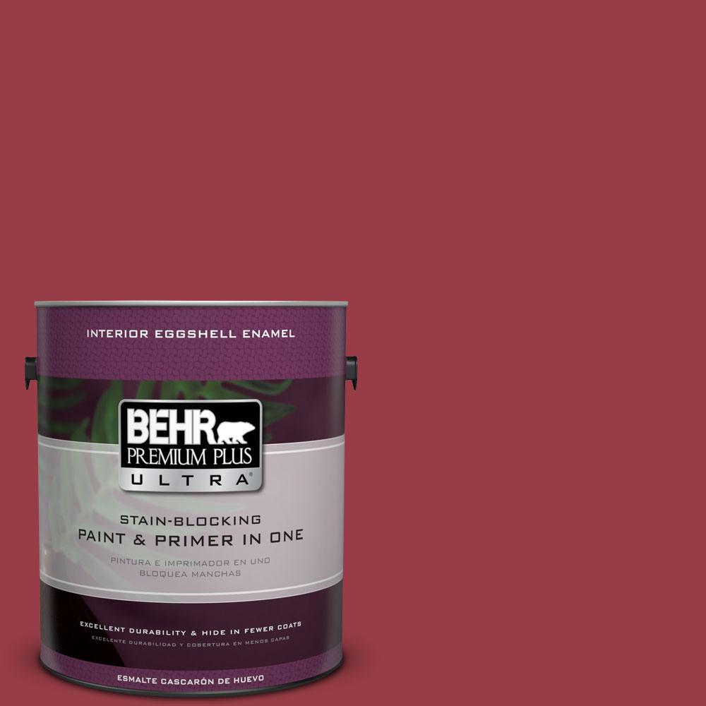 BEHR Premium Plus Ultra 1-gal. #140D-7 Classic Cherry Eggshell Enamel Interior Paint