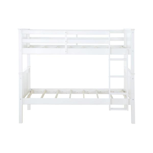 Dorel Living Dylan White Twin Bunk Bed FA7519W