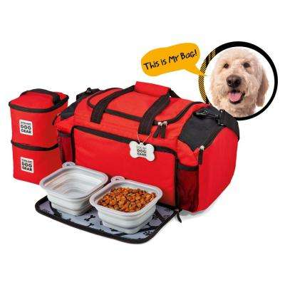 Ultimate Week Away Travel Bag for All Sized Dogs Polyester Accessory Duffle