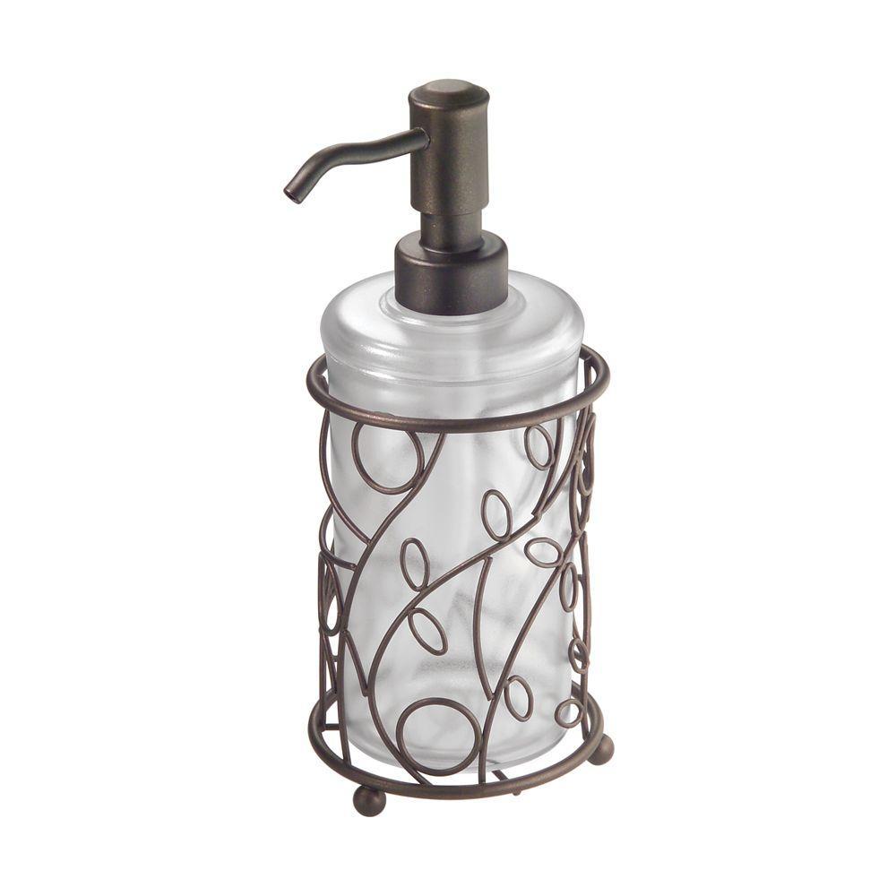 Good InterDesign Twigz Soap Dispenser In Clear/Bronze