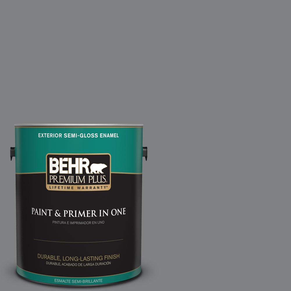 BEHR Premium Plus 1-gal. #T12-10 Game Over Semi-Gloss Enamel Exterior Paint