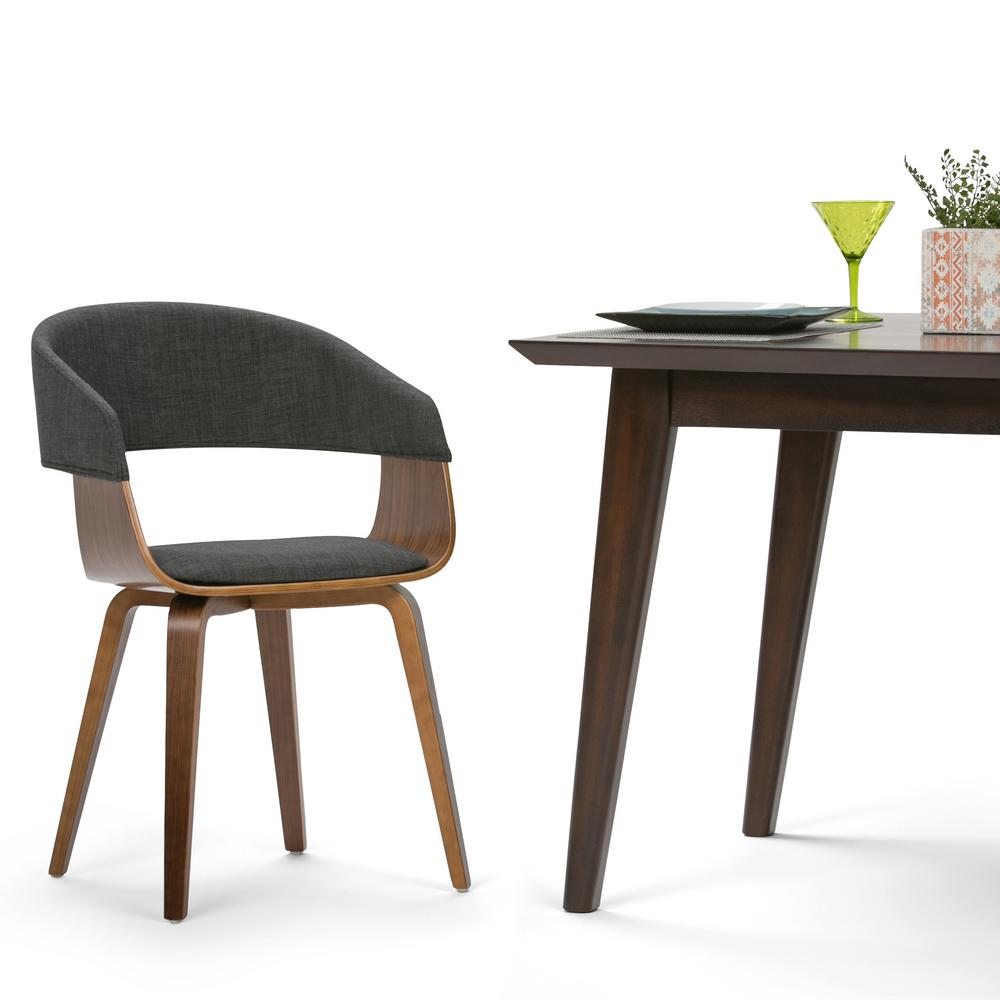 Simpli Home Lowell Charcoal Grey And Natural Linen Look