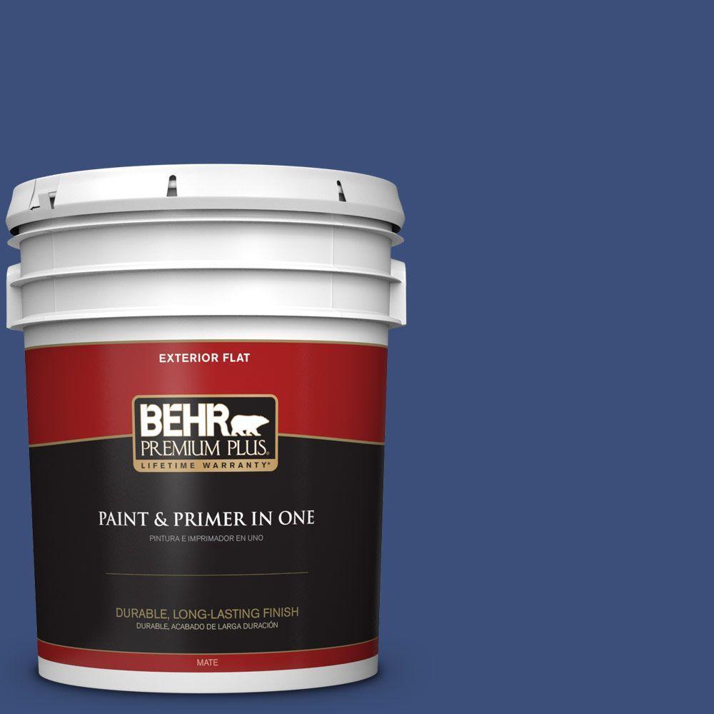 BEHR Premium Plus 5-gal. #S-H-600 Sailor Flat Exterior Paint