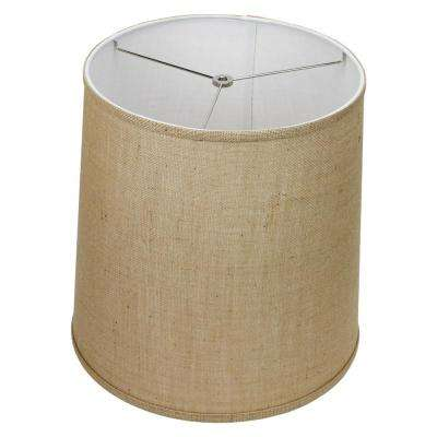 Fenchel Shades 13 in. Top Diameter x 15 in. Bottom Diameter x 15 in. Slant,  Empire Lamp Shade - Burlap Natural