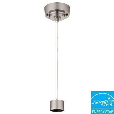 Brushed Nickel LED Cylinder Mini Pendant Fitter