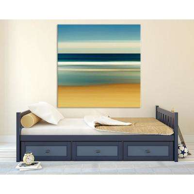 "54 in. x 54 in. ""Sea Stripes II"" by Katherine Gendreau Printed Framed Canvas Wall Art"