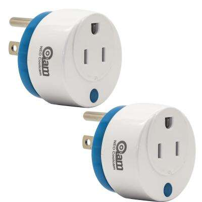 World's Smallest Z-Wave Plus Power Plug On/Off Smart Module (2-Pack)