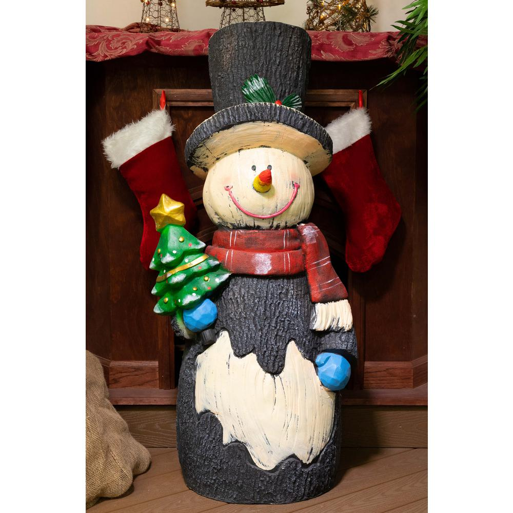 Alpine 47 in. H Snowman Statuary Decor-JFH1042 - The Home ...