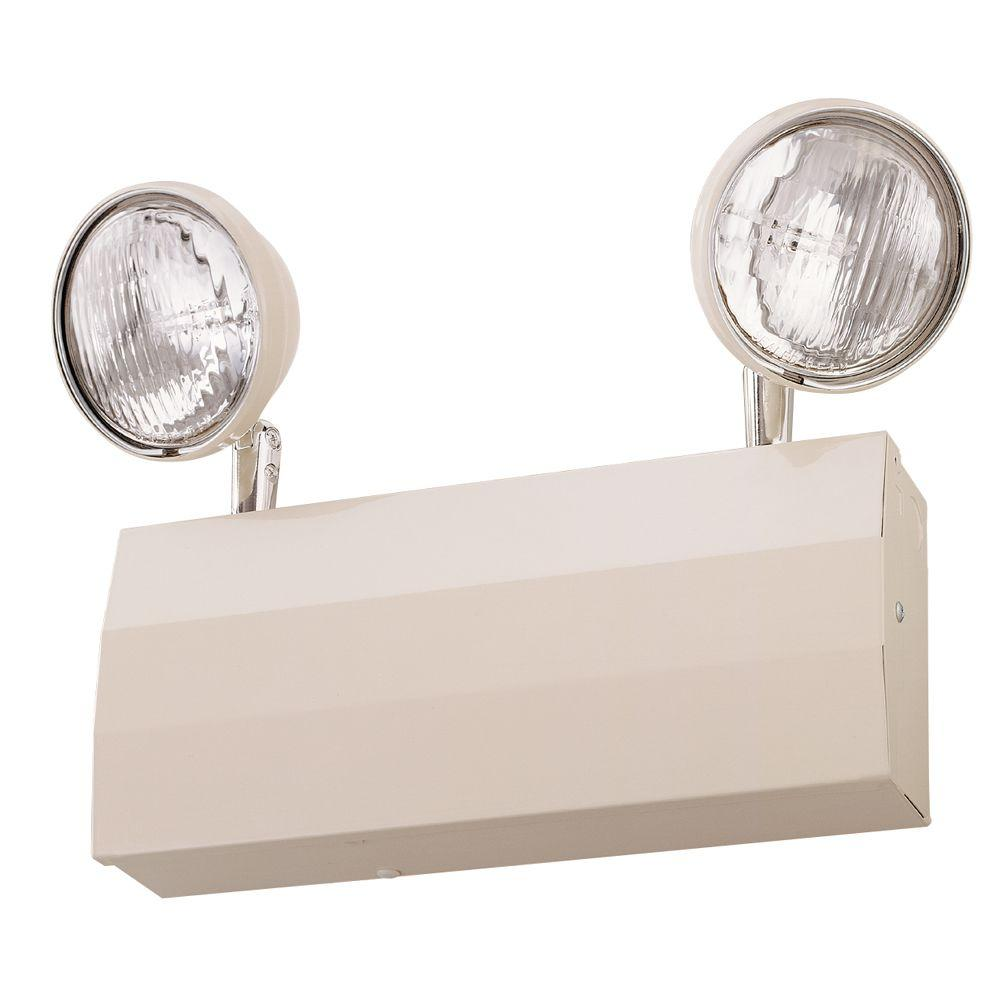 Lithonia Lighting 2-Light 20-Gauge Chicago Approved White Emergency Fixture Unit