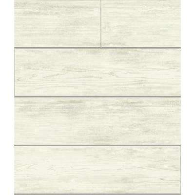 56 sq. ft. Shiplap Removable Wallpaper
