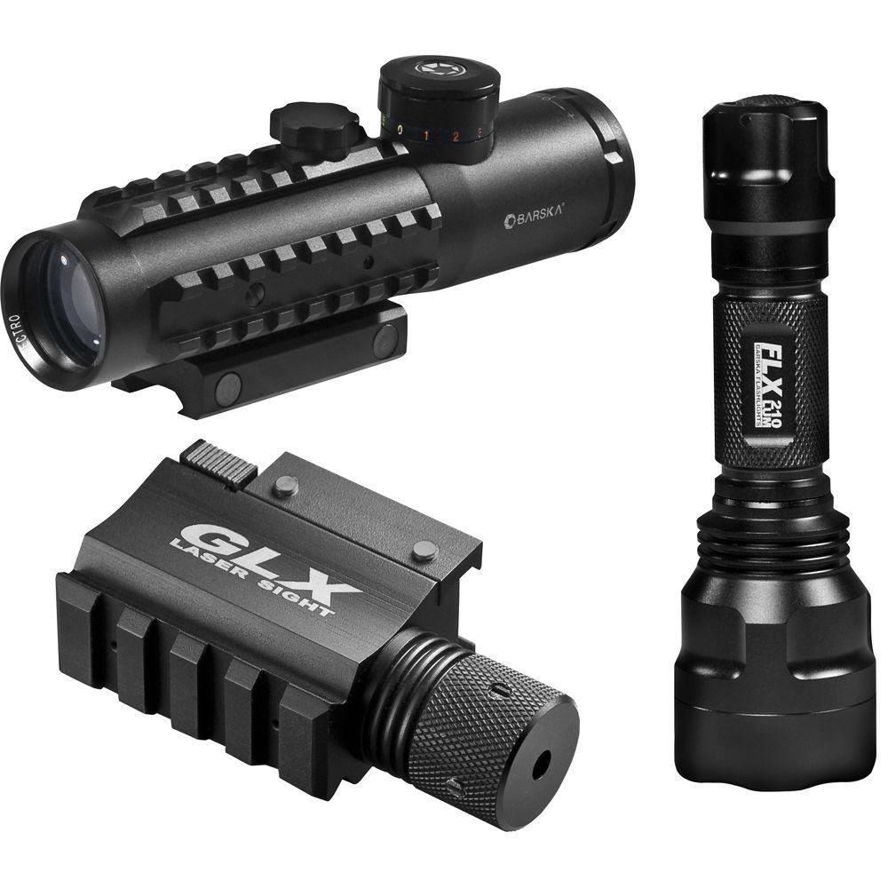 4x30 Hunting IR Electro Sight with Green Laser and Flashlight
