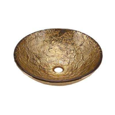 16 in. Vessel Sink in 24K Gold