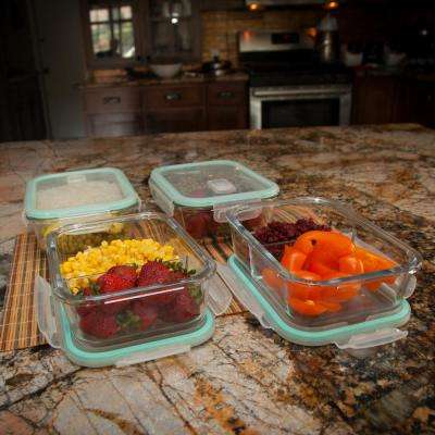 8-Piece Glass Storage Containers Set