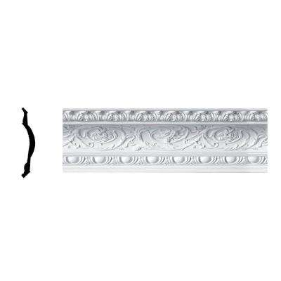 10-5/8 in. x 9-7/8 in. x 96 in. Polyurethane Hillsborough Rococo Crown Moulding