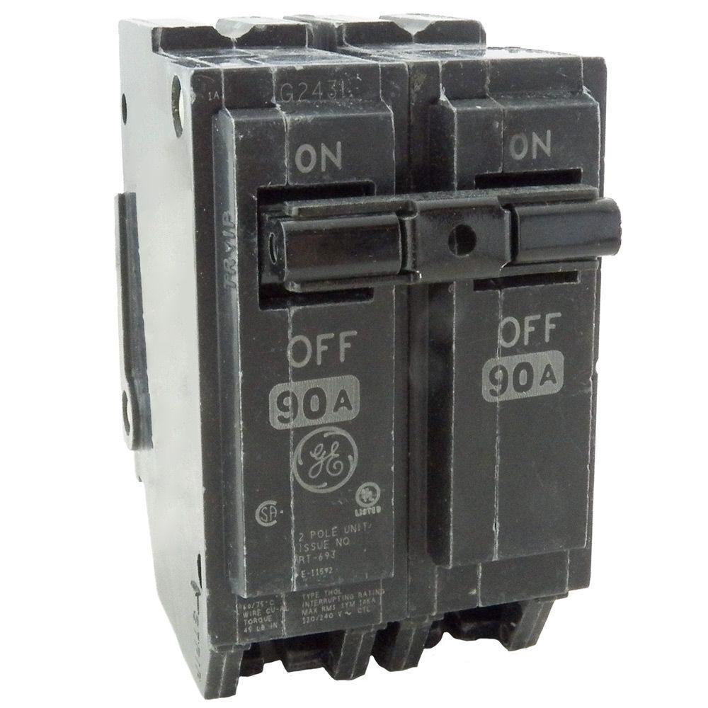 Q-Line 90 Amp 2 in. Double Pole Circuit Breaker