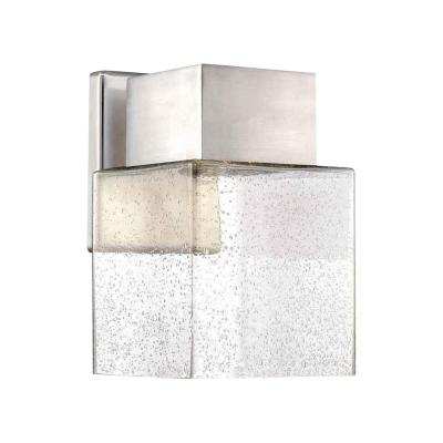 Essex Brushed Nickel Outdoor LED Powered Wall Lantern Sconce