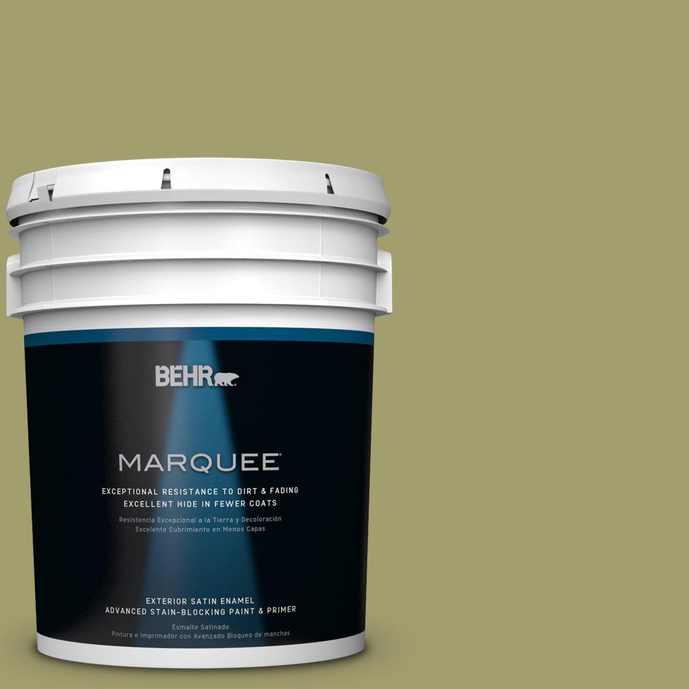 BEHR MARQUEE 5-gal. #S340-5 Farm Fresh Satin Enamel Exterior Paint