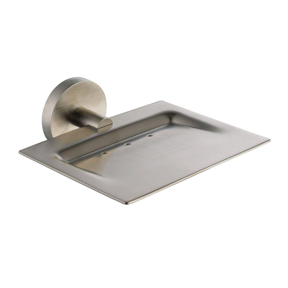 KRAUS Imperium Bathroom Wall-Mounted Brass Soap Dish in Brushed Nickel