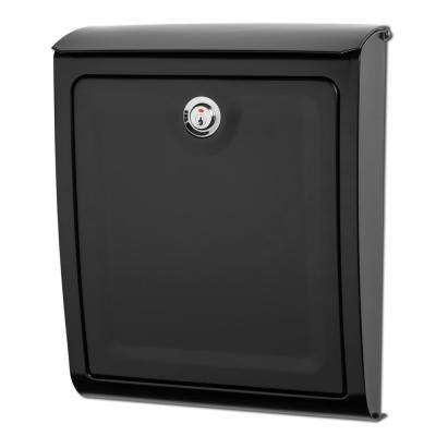 Sienna Black Wall Mount Locking Mailbox