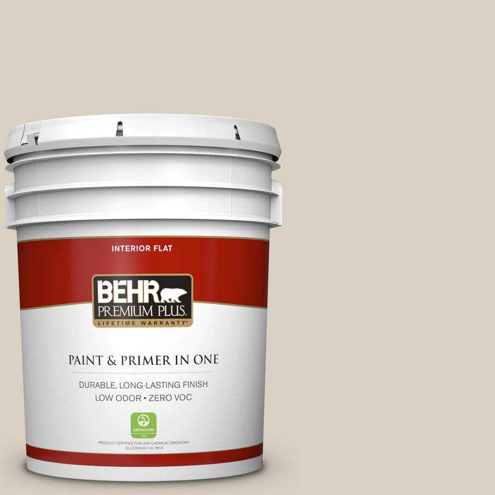 BEHR Premium Plus 5-gal. #PPF-14 Traditional Tan Zero VOC Flat Interior Paint