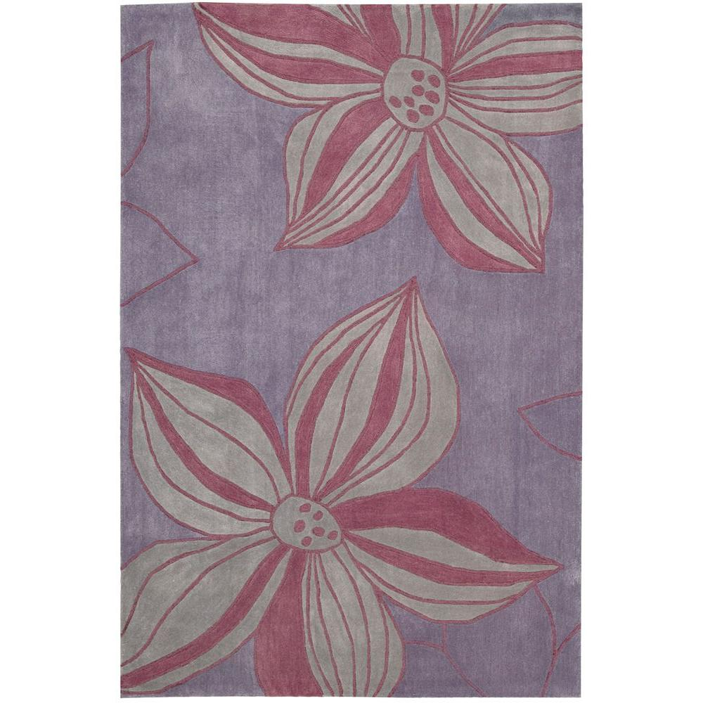 Overstock Area Rugs: Nourison Overstock Contour Violet 5 Ft. X 7 Ft. 6 In. Area
