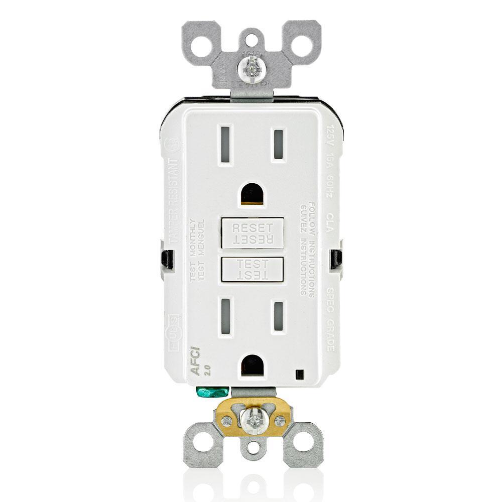 15 Amp Tamper Resistant AFCI Outlet, White (6-Pack)