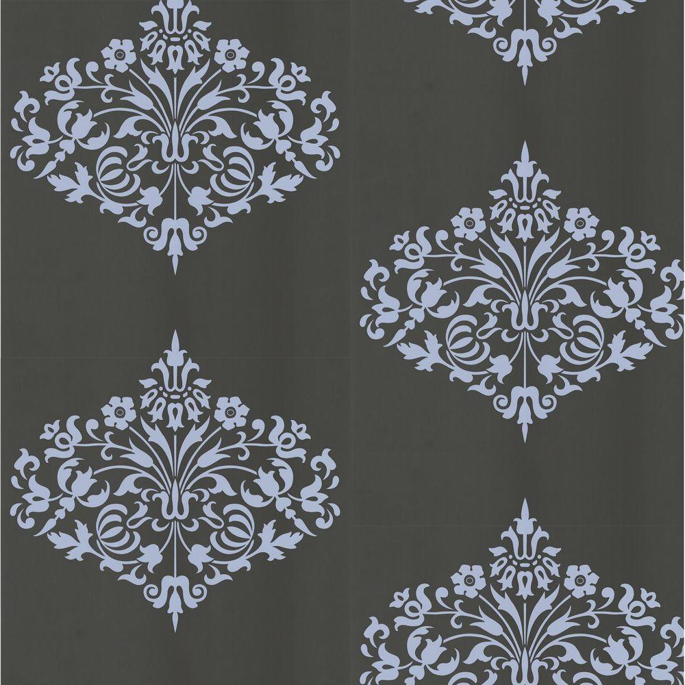 Graham & Brown 56 sq. ft. Fountain Charcoal Wallpaper - DISCONTINUED