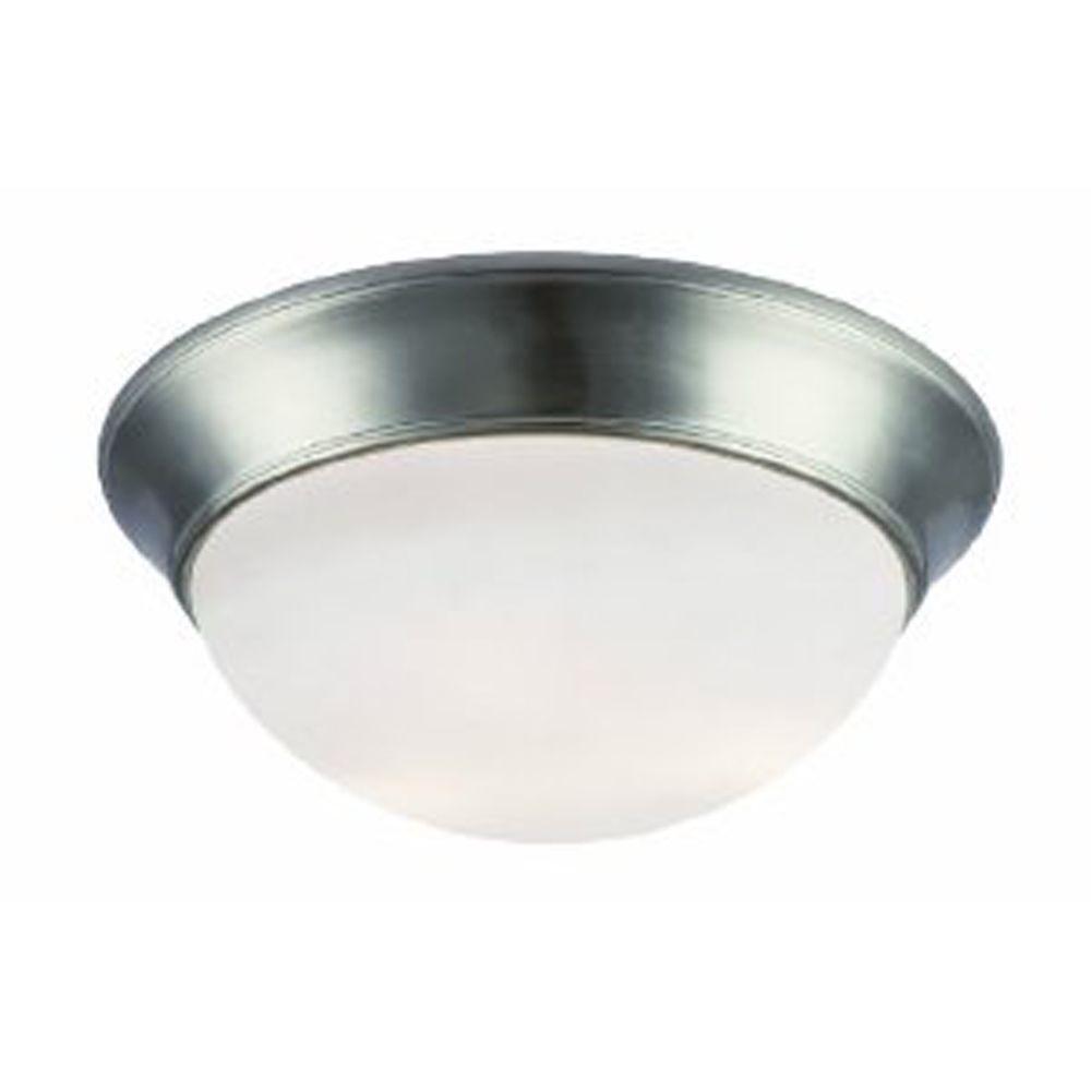 Bel Air Lighting Stewart 3-Light Brushed Nickel Incandescent Ceiling Flushmount
