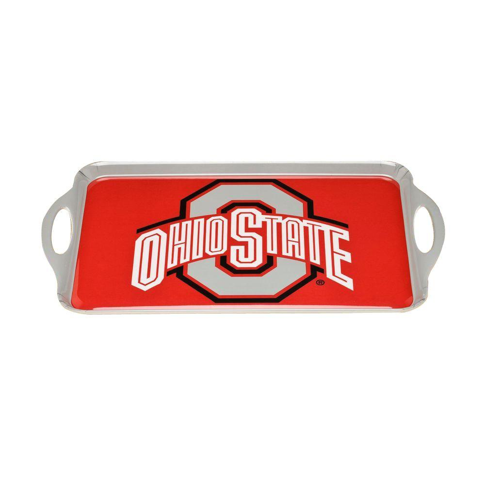 BSI Products NCAA Ohio State Buckeyes Melamine Serving Tray