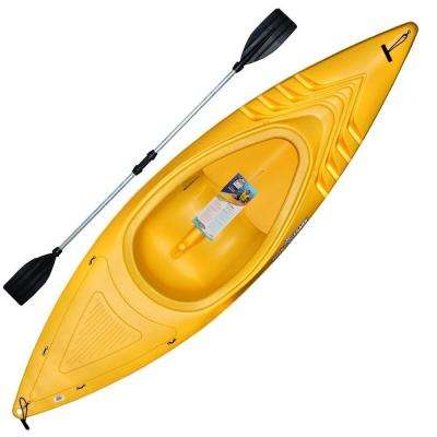 9 ft. 250 lb. Yellow Shark Kayak with Deluxe Sport Paddles