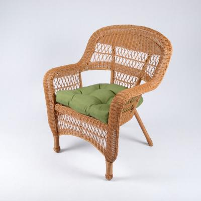 Portside Amber 5-Piece Wicker Outdoor Dining Set with Husk Hunter Cushion