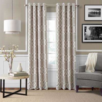 Blackout Harper Linen Blackout Window Curtain Panel - 52 in. W x 84 in. L