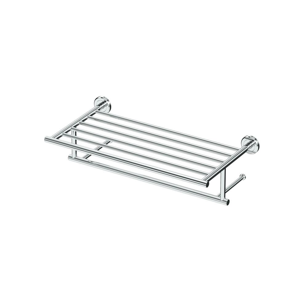 Latitude II 18 in. Towel Rack in Chrome