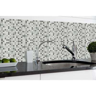 Magic Gel 9.125 in. x 9.125 in. Silver Glass Mosaic Wall Tile (3-Pack)