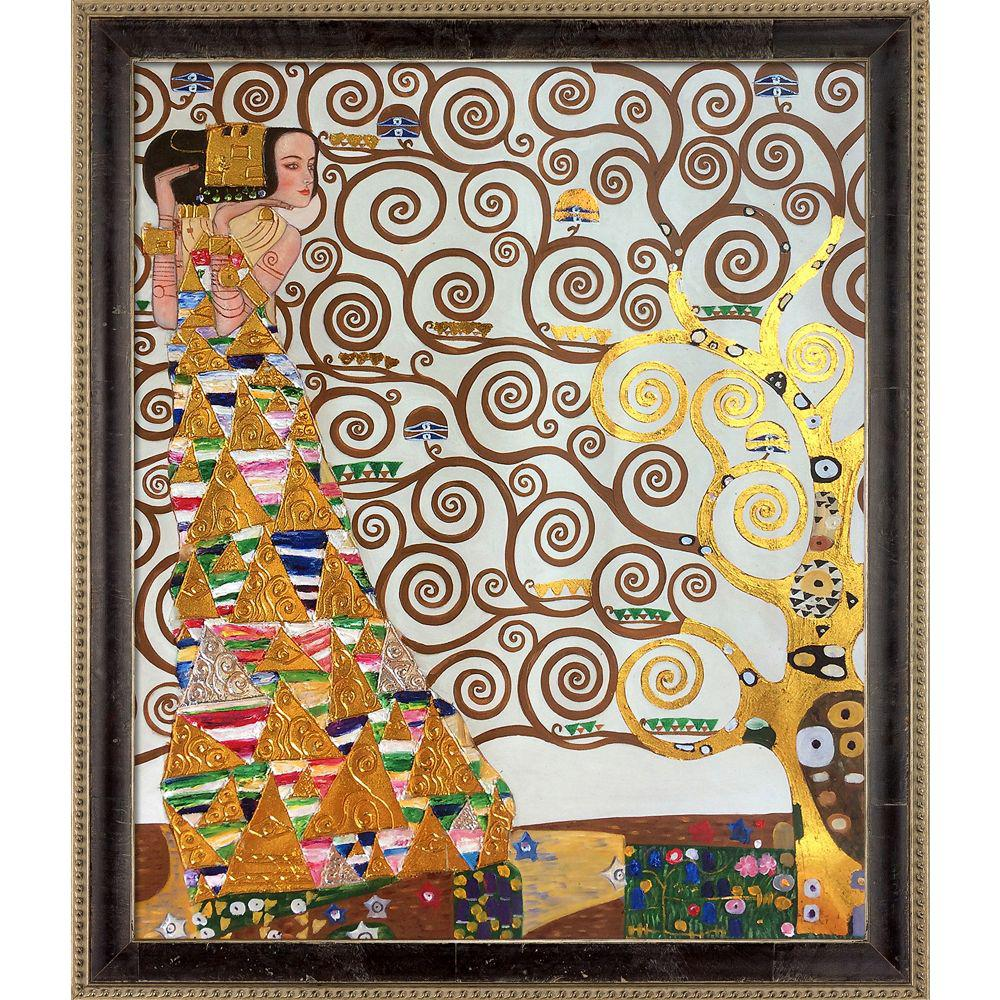 LA PASTICHE Expectation (Luxury Line) with Antiqued Athenaeum Scoop Frameby Gustav Klimt Oil Painting, Multi-Colored was $1320.0 now $530.4 (60.0% off)