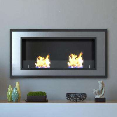 Lugo 47 in. Wall Mounted Ethanol Fireplace in Stainless Steel
